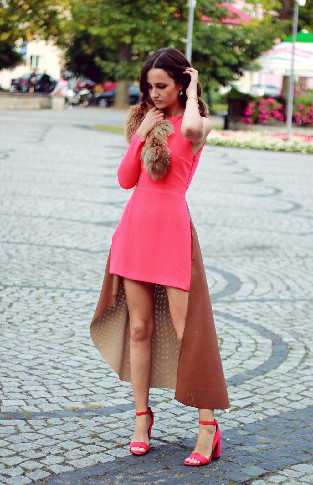 Red dress original chic outfit clothes tumblr style girl