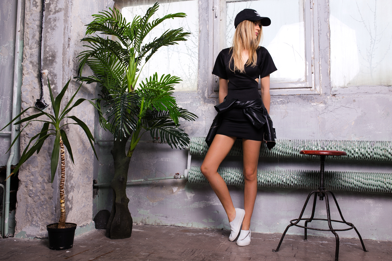 Black dress on tumblr - Black Dress Ootd Outfit Missguided Adidas Cap Tumblr Girl Street Style Lil Icons