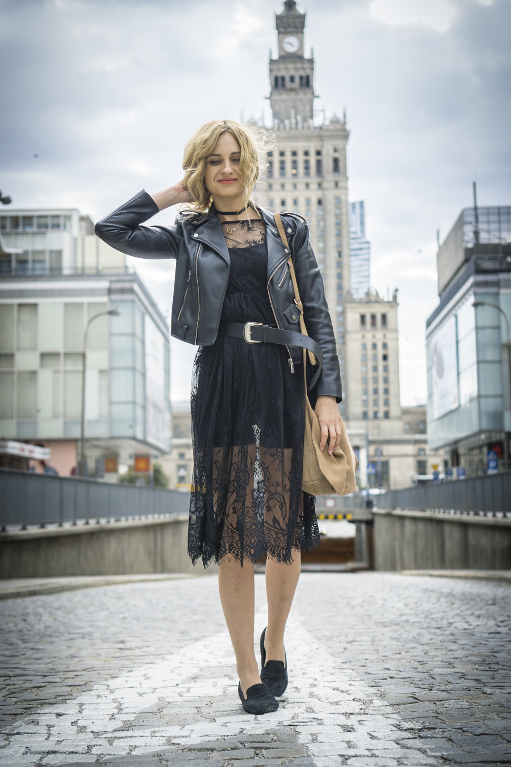 Black Lace Dress Casual Chic Street Style Fashion Blonde Tumblr Girl Look It Girl Lookbook Ootd