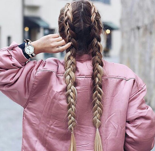 Braids Inspiration Tumblr Pinterest Hairstyle Two Duch Braids Inspo
