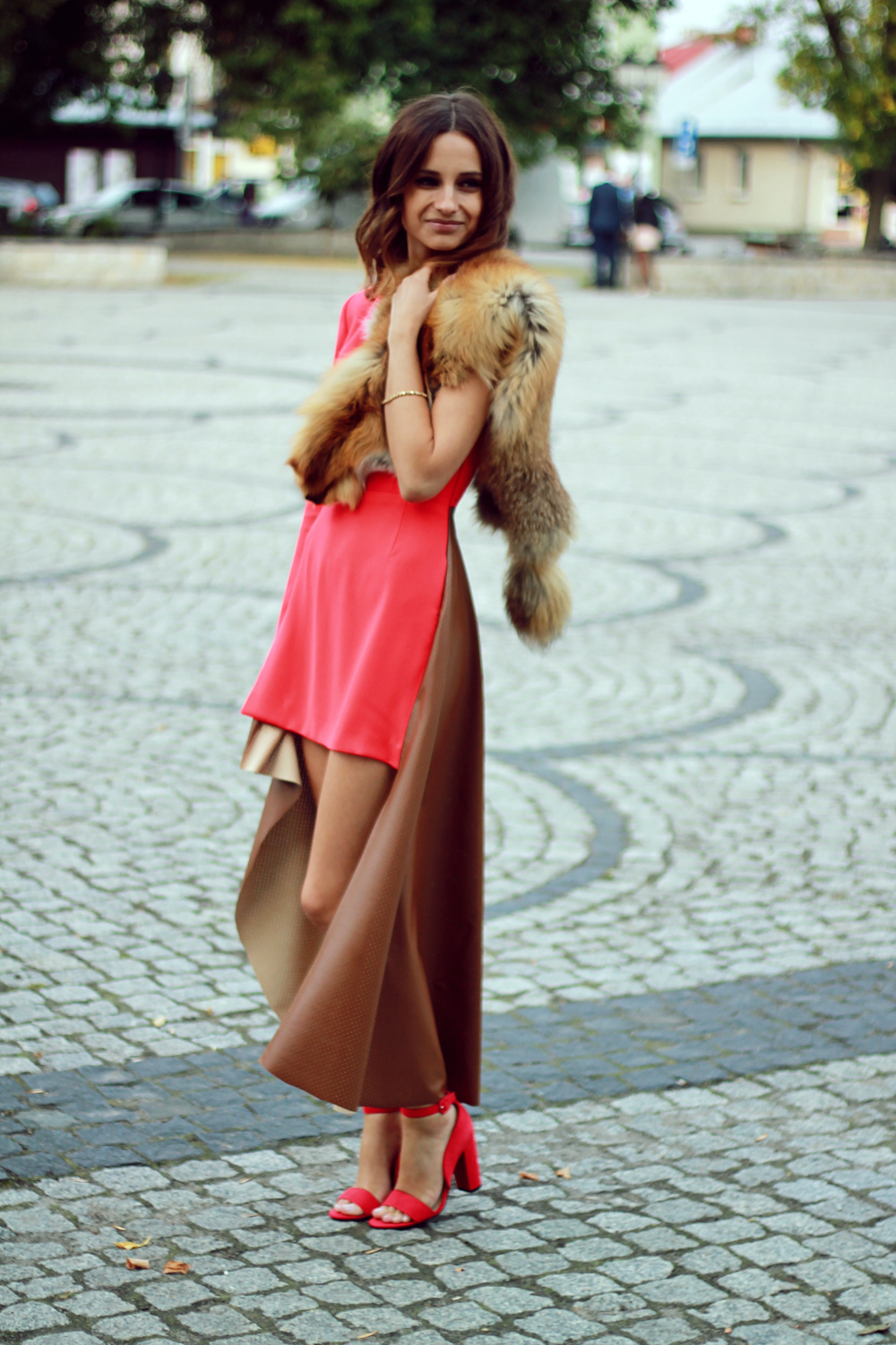 red dress original chic outfit clothes girl vogue lookbook ootd