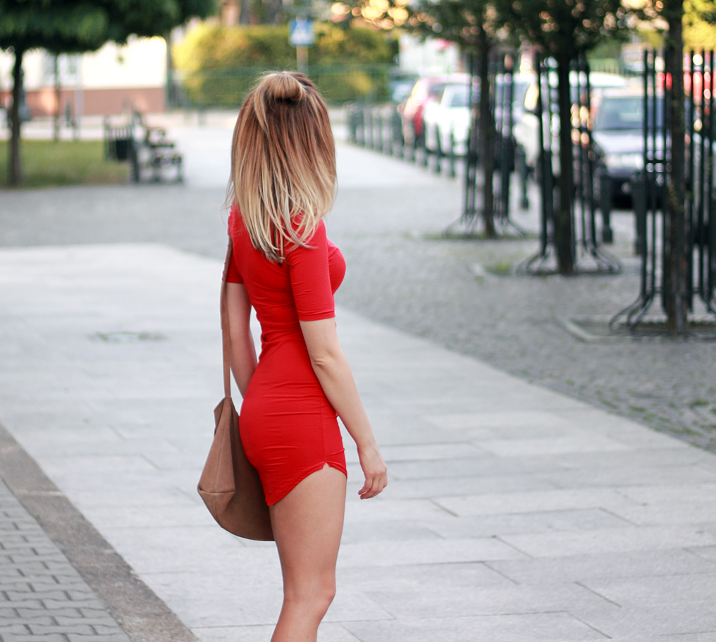 street style fashion red dress blonde pretty girl tumblr ootd outfit lookbook look what to wear