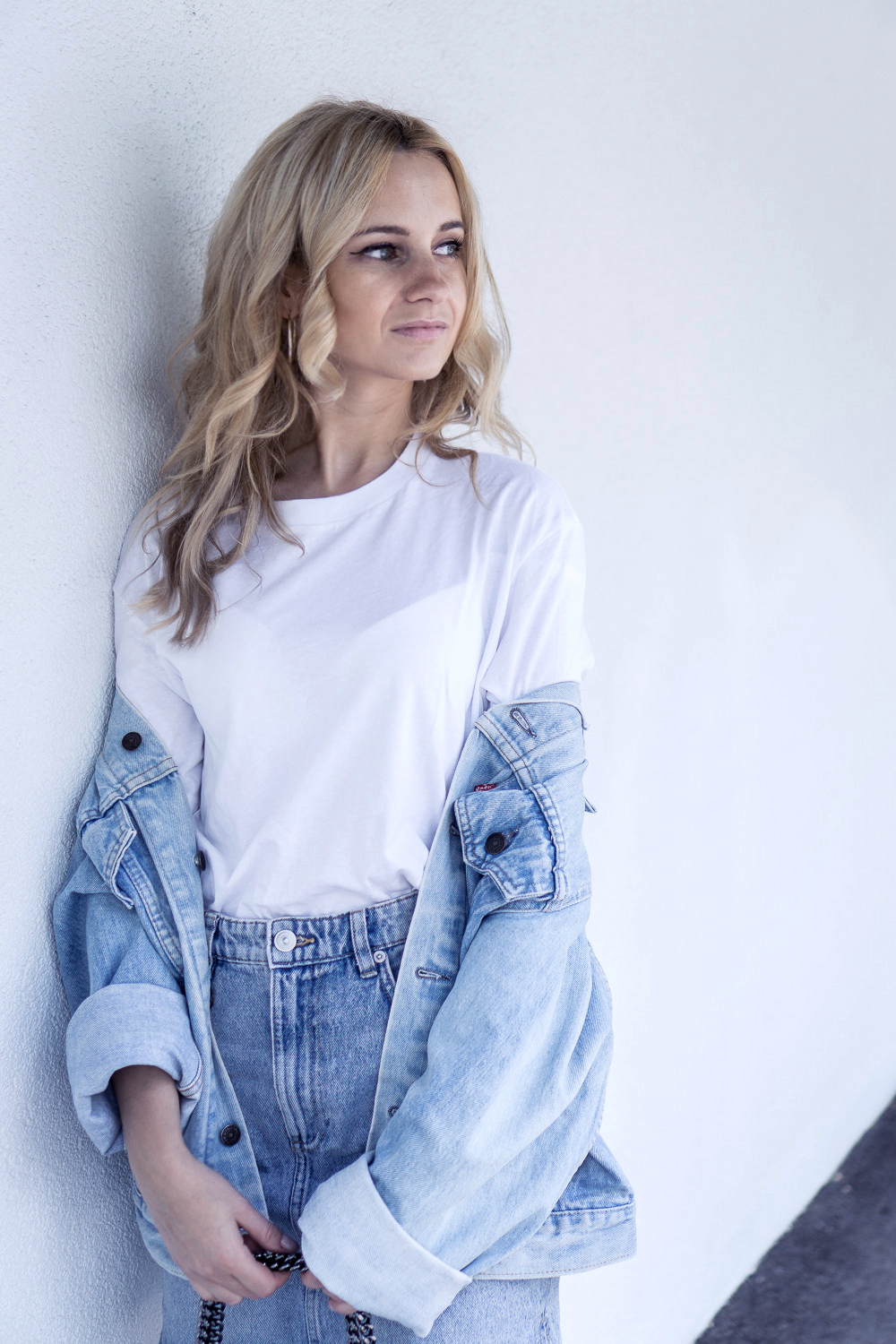 denim outfit skirt levis vintage jacket casual ootd street style fashion tumblr basic clothes